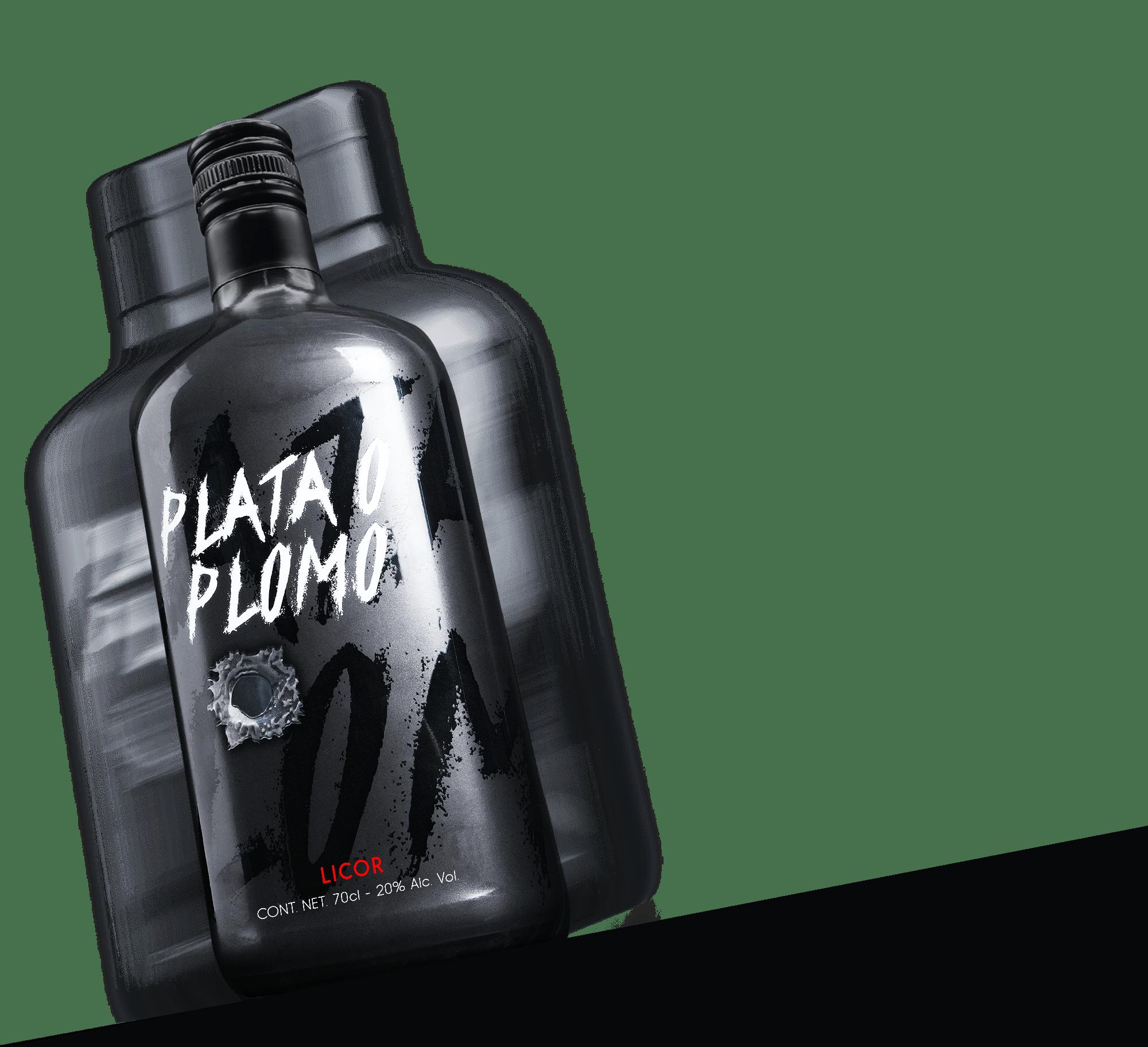 Botella de Plata o Plomo