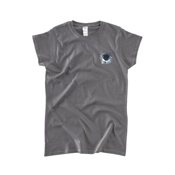 Frontside of gray girl's t-shirt