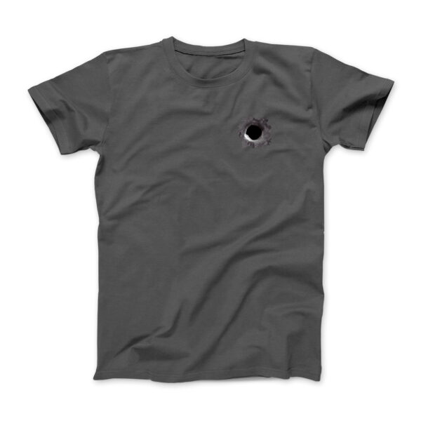 Frontside of gray t-shirt